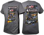 Allstar Performance Circle Track Racing Tee Shirt-Gray  ALL99901